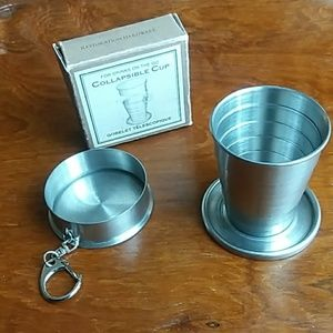 Stainless steel collapsible 4oz cup